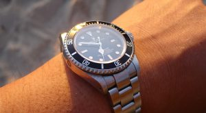 rolex on a wrist after a rolex watch repair